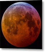 Super Wolf Blood Moon Lunar Eclipse Of 2019 Metal Print