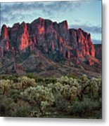 Superstition Mountains Colors Metal Print