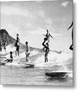 Surf Stunts Metal Print