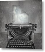 Surreal Imagine In Black And White Of A Metal Print
