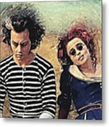 Sweeney Todd And Mrs. Lovett Metal Print