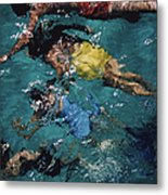 Swimming In The Bahamas Metal Print