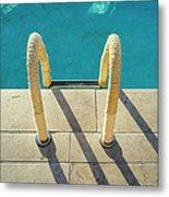 Swimming Pool Ladder, Los Angeles Metal Print