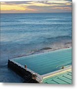 Swimming Pools At Bondi Beach, Before Metal Print