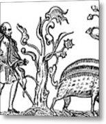 Swine Hunting, 9th Century, 1833 Metal Print