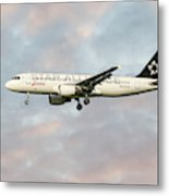 Swiss Star Alliance Livery Airbus A320-214 Metal Print