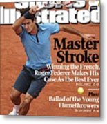 Switzerland Roger Federer, 2009 French Open Sports Illustrated Cover Metal Print