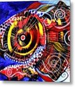 Swollen Red Cavity Fish Metal Print