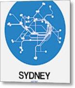 Sydney Blue Subway Map Metal Print
