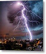 Sydney Summer Lightning Strike Metal Print