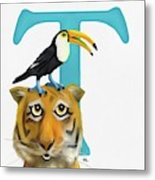 T Is For Two Metal Print
