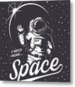 T-shirt Design Print. Space Theme Metal Print