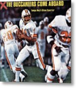 Tampa Bay Buccaneers Qb Steve Spurrier... Sports Illustrated Cover Metal Print