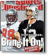 Tampa Bay Buccaneers Vs Oakland Raiders, Super Bowl Xxxvii Sports Illustrated Cover Metal Print