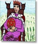 Tarot Of The Younger Self King Of Pentacles Metal Print