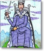 Tarot Of The Younger Self King Of Swords Metal Print