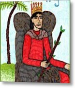 Tarot Of The Younger Self King Of Wands Metal Print