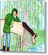 Tarot Of The Younger Self Knight Of Cups Metal Print