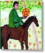 Tarot Of The Younger Self Knight Of Pentacles Metal Print
