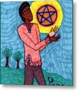 Tarot Of The Younger Self Page Of Pentacles Metal Print