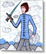 Tarot Of The Younger Self Page Of Swords Metal Print