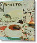 Tea Collage Poster Metal Print