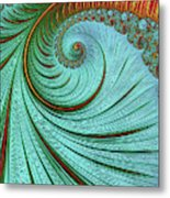 Teal And Red Metal Print