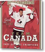 Team Canada Mario Lemieux, 2002 Winter Olympic Champions Sports Illustrated Cover Metal Print
