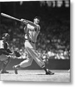 Ted Williams Making A Hit Metal Print