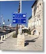 Tel-aviv Jaffa Road Sign Metal Print