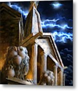 Temple Of Hercules In Kassel Metal Print