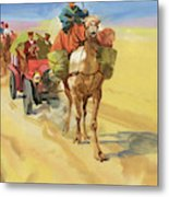 Ten Thousand Mile Motor Race Camel Train Metal Print