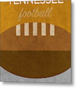 Tennessee Football Minimalist Retro Sports Poster Series 004 Metal Print