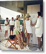 Tennis In The Bahamas Metal Print