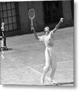 Tennis Player Don Budge Serving Tennis Metal Print