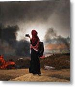 Tensions In Gaza Remain High Metal Print