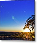 Texas Hill Country At Sunset Metal Print
