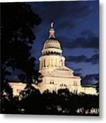 Texas State Capital Dawn Panorama Metal Print