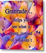 Text Art Gratitude Metal Print