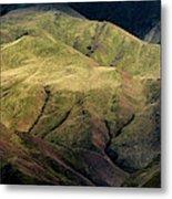 Textured Hills Panoramic Metal Print