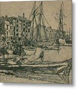Thames Warehouses, 1859, 1904 Metal Print