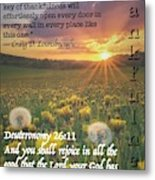 Thankful 26 11 Metal Print