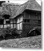 Thatched Watermill 2 Metal Print