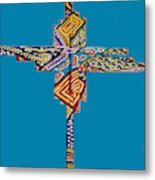 The Abstract Cross Metal Print
