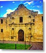 The Alamo Mission Metal Print