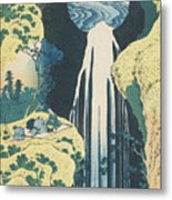 The Amida Waterfall In The Province Of Kiso  Metal Print