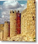 The Ancient City Of, Avila, Spain - Medieval City Walls Metal Print