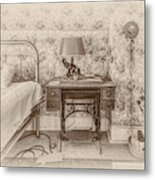 The Antique Sewing Machine Metal Print