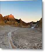The Badlands And A Sunrise Metal Print