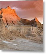 The Badlands With Another Sunrise Metal Print